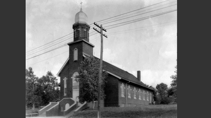 Historic image of Sioux City's St. Casimir Lithuanian church