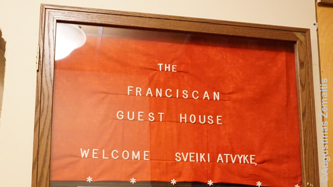 Kennebunk Lithuanian guest house guests are greeted in Lithuanian language as well