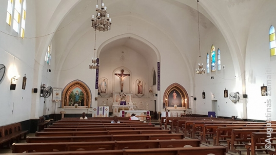 The interior of the Rosario Lithuanian church