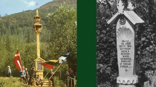 Memorials for Lithuanians near lake Lama near Norilsk. Photos by Algimantas Sakalauskas.