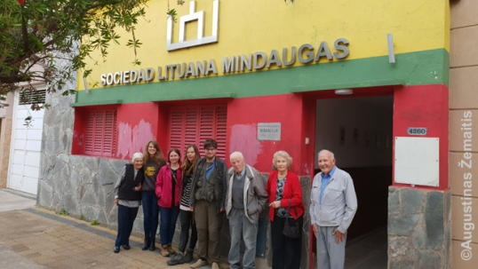 Members of the Lithuanian club Mindaugas of Beriso, Argentina, in 2019