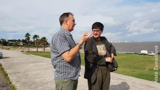 Augustinas Žemaitis su Alberto Kaluževičiumi Cerro rajone