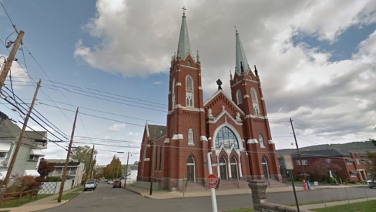 Now-demolished Holy Trinity Lithuanian church of Wilkes-Barre
