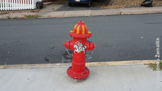 Pittston Lithuanian club hydrant