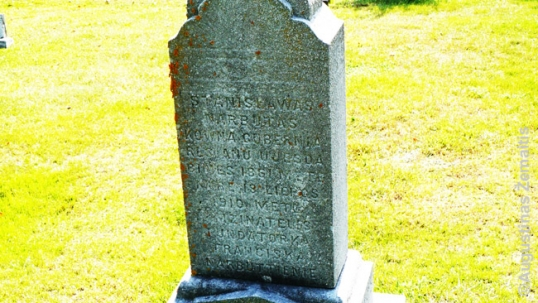 A grave in Scranton with an old Lithuanian epitaph