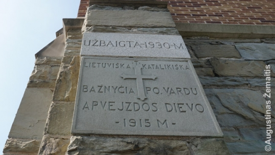 Cornerstone of the Scranton National Catholic church