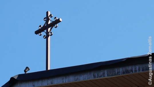 Traditional Lithuanian Sun-Cross on top of the St. Mary Villa