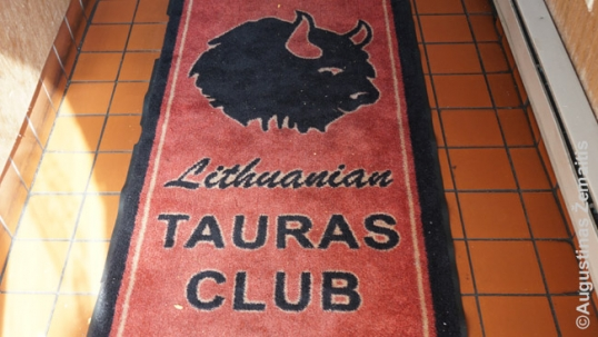 Carpet at the Tauras club entrance