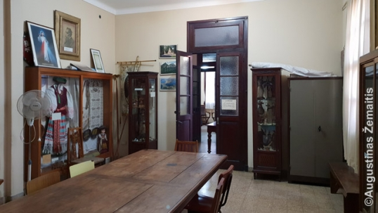 Lithuanian museum / parish hall (some half of the room is visible)