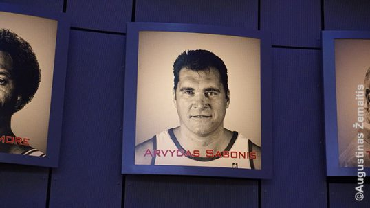Sabonis face at the Naismith Basketball Hall of Fame