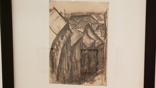 'Houses of Vilnius' by Lasar Segall in the Museum of Lasar Segal in Sao Paulo