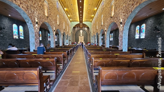 The interior of the church reminding of a historic old town church