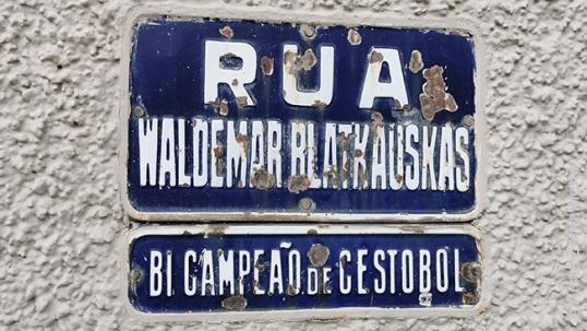 Basketball champion Waldemar Blakauskas street in Sao Paulo