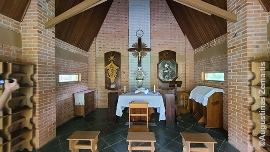 Inside the Lithuanian chapel of Lituanika