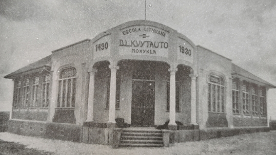 Vytautas the Great school as it looked before World War 2