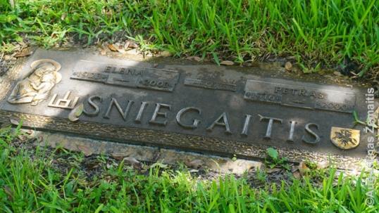 Vienas kapų su lietuviškais ženklais
