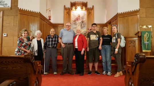 Su Kolinsvilio bažnyčios bendruomene