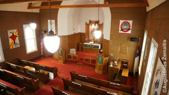 Collinsville Lithuanian church interior