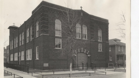 Now-demolished Lithuanian church of East Chicago. Image from Lithuanian Research Studies Center