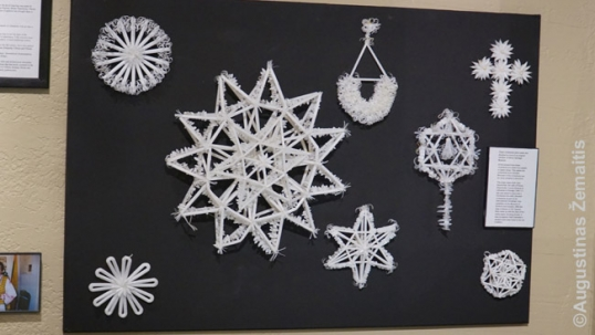 Drinking straw ornaments by Anna Keraminas at the Rockford ethnic heritage museum