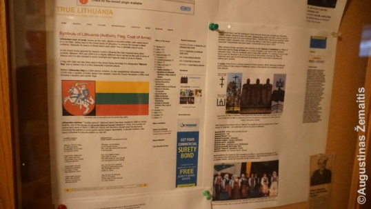 Data about Lithuania is posted on the bulletin boards of the club so its members would learn more about Lithuania. Among that data, we have discovered print-outs from the True Lithuania website.