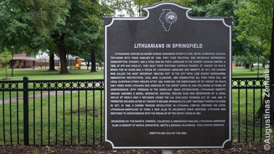 Lithuanians in Springfield commemorative plaque