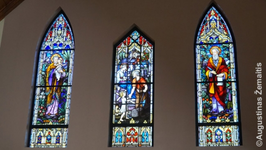 Lithuanian stained-glass windows at the Holy Family church in Waukegan