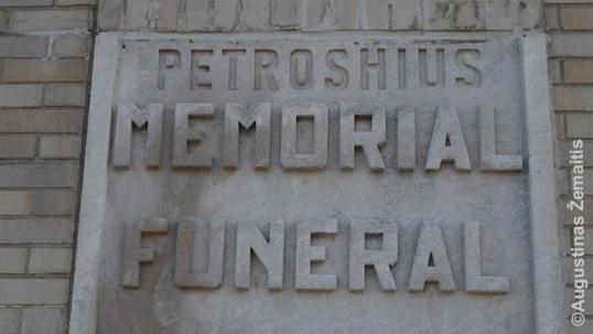 Petroshus Funeral Home sign