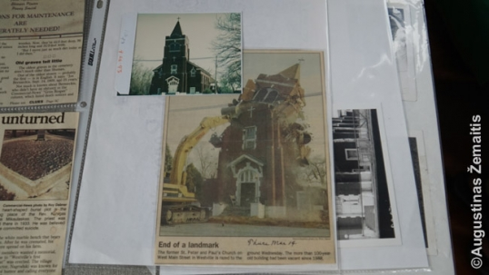 Lithuanian Ss. Peter and Paul church during demolition
