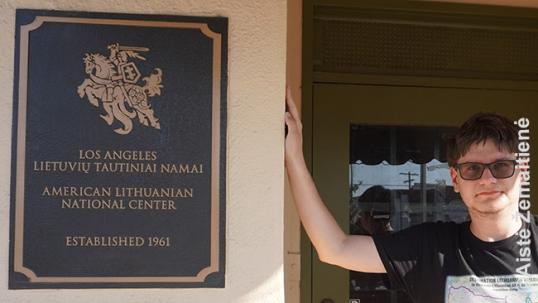 Lithuanian-American National Center entrance plaque