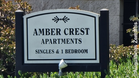 Amber Crest Apartments sign