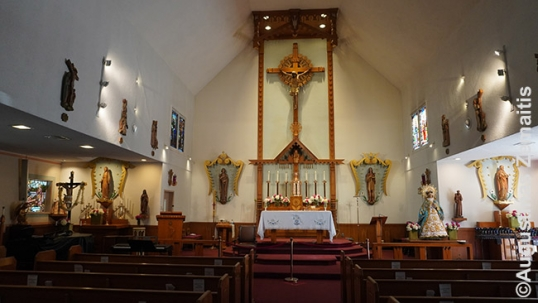 Los Angeles St. Casimir Lithuanian church interiior