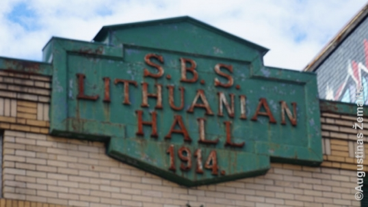 St. Bartholomeus Society Hall of Lewiston sign