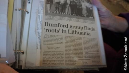 Rumfordo laikraščio iškarpa apie atkurtą lietuvišką veiklą