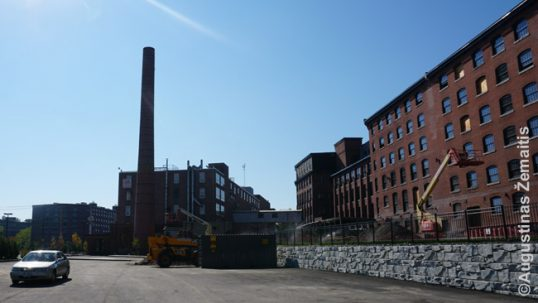 "Nashua factories looking from the spot of ""Diversity"" statue"