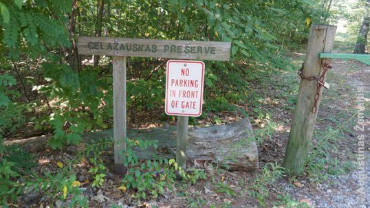 Gelazauskas preserve entrance