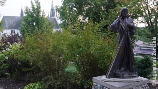 Divine Mercy statue at the Canadian Martyrs Shrine