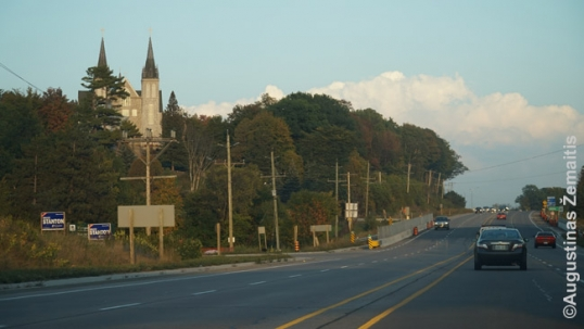 Canadian Martyrs shrine as seen from the road