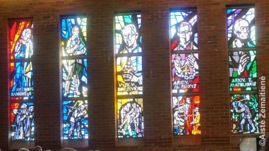 Stained-glass windows for Lithuanian Martyrs in the Lithuanian Martyrs church of Mississauga