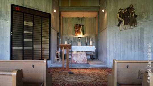 Inside the Mississauga Lithuanian cemetery chapel