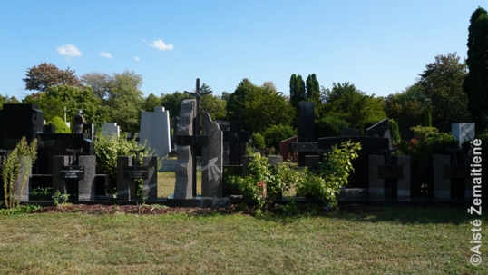 Graves of Lithuanian priests at Mississauga Lithuanian cemetery