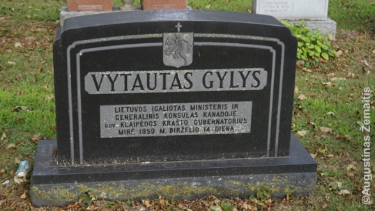 Konsulo Vytauto Gylio kapas Toronte