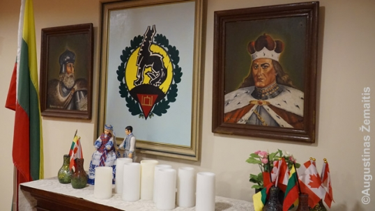 Lithuanian memorabilia inside the nursing home at Ressurection parish