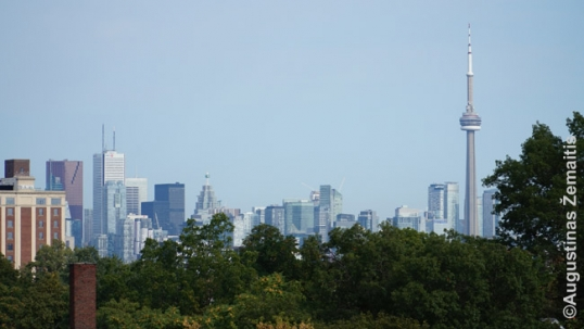 Toronto downtown as visible from Vilnius Manor