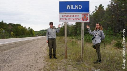 Prie įvažiavimo į Kanados Vilnių