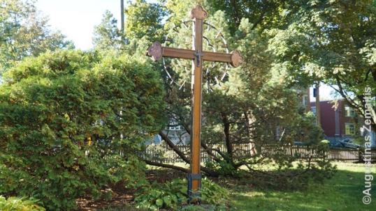 Lithuanian cross at the Montreal Our Lady Gate of Dawn Lithuanian church