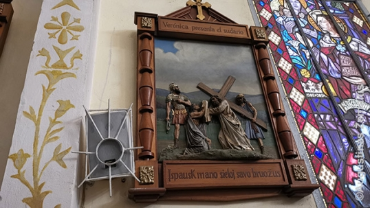 Lithuanian station of the cross in Montevideo Lithuanian church