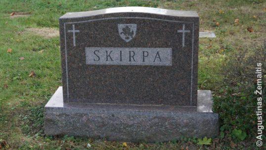 Kazys Škirpa's grave
