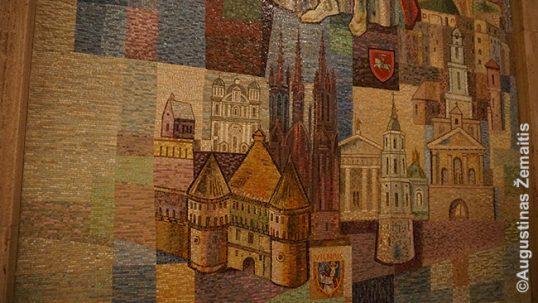 Lietuviškos koplyčios Vašingtone mozaikos fragmentas
