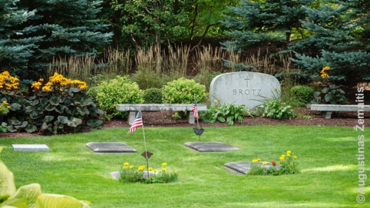 Brotz family section of the Kohler cemetery where Feliksas Vaitkus is buried at
